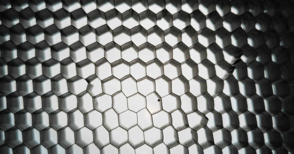 A close up of a honeycomb